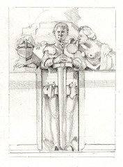 City Park (lwdphoto) Tags: lance duffin lancewadeduffin lanceduffin figure portraits portrait male faces knight sculpture graphite drawing art sketch sketching