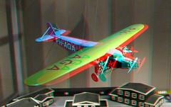 Aircraft PH-AGA Museum Rotterdam 3D (wim hoppenbrouwers) Tags: museum rotterdam 3d anaglyph stereo redcyan phaga plane aircraft vliegtuig airoplane ttw
