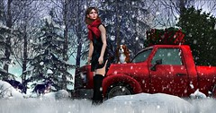 Pickup stuck in snow (Bellsophie Resident) Tags: glamaffair wasabi cestlavie groupgift thearcade thaliaheckroth yourdreams foxwood jian hive soy