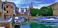 Back Canal of Venice (glenn2meyer) Tags: back canal venice italy water waterway boats sky vacation trave europe landscape