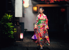 Japannese girl with kimono dress (anekphoto) Tags: relax pink autumn japanese asia asian market asakusa walking yukata fall girls outdoor dress maple tokyo kyoto town festival shrine holiday clothing women red november tourist street pretty wearing portrait religion lady temple beauty japan beautiful female costume attractive girl traditional colorful woman young tourism kimono tradition people culture travel