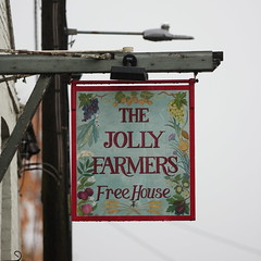 The Jolly Farmers pub sign North Creake Norfolk UK (davidseall) Tags: the jolly farmers pub sign north creake norfolk uk pubs signs inn tavern bar public house houses gb british english hanging
