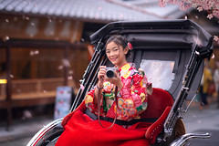 Japanese girl take a photo by her camera and sit on traditional traier (anekphoto) Tags: relax photographer camera history gion park tree nature transport leaf transportation tokyo urban garden autumn traveler enjoy cherryblossom sit outdoor happy traditional city holiday women culture people trailer street kyoto ado pagoda yasaka tourism tour traveller travel gast woman lady girl comfort fast japanese japan asia asian kimono