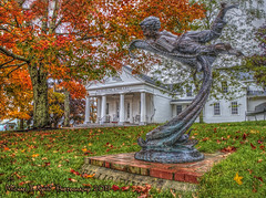 Flying into Imagination (Michael F. Nyiri) Tags: boothbayharbor maine library fallcolors autumn trees leaves