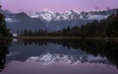 Purple Haze (Sinclair's) Tags: lake matheson mountains mt cook new zealand south island winter tasman