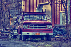 Ready to go (* Gemini-6 * (on&off)) Tags: dodge ford truck vehicle hdr vintage transportation rust patina light shadow