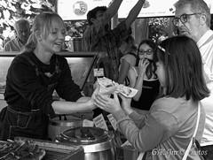 Fast Food (1) (M)-03357M (G.K.Jnr.) Tags: candid street streetphotography touristattraction fastfood markettrader stallholder interest people portraits strangers streettrader monochrome bw blackandwhite blackwhitephotos urban boroughmarket london unitedkingdom fujix apsc xh1
