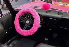 pink (try...error) Tags: rosa fuji fujifilm x100 x100s steering wheel car classic fiat spider