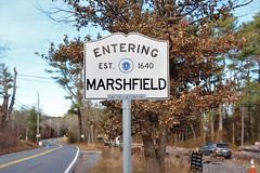 Marshfield, MA (Stephen St-Denis) Tags: marshfield massachusetts plymouthcounty townline sign enteringmass