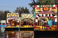Xochimilco (Prayitno / Thank you for (12 millions +) view) Tags: cdmx ciudad mexico city floating market trajinera traditional mexican boat sampan getek colorful water river canal day time outdoor sunny blue sky xochimilco