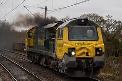 Freightliner 70003 (Mike McNiven) Tags: freightliner freight loco locomotive clag clagging crewe basfordhall traffordpark terminal gatley diesel