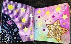Falling Star Junk Journal Collage (stashheap) Tags: stars doodles collage junkjournal