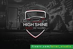 High Shine Auto Detailing - Modern Logo Designs (Bilal Studio) Tags: modern logo design designs logos minamilist graphic