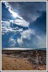 Dramatic Hervey bay, AU (alex6287) Tags: nature clouds storm weather ocean rocks beach seascape drama