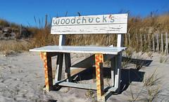 Sagg Main Beach (neilsonabeel) Tags: nikonfm2 nikon nikkor film analogue beach longisland suffolkcountry sand bench newyork