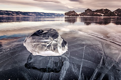 Ice (Black Sickle) Tags: baikal lake ice winter reflection landscape nature olkhon island travel nikon d800 russia siberia frost
