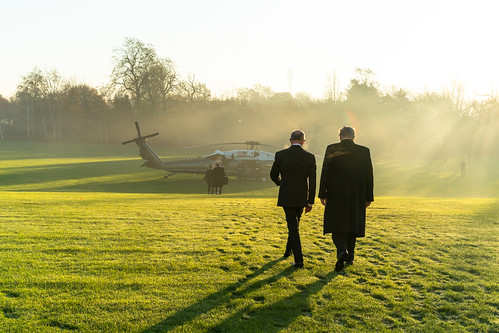 President Trump Departs for NATO Meeting by The White House, on Flickr