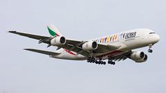 A6-EVB (hartlandmartin) Tags: a6evb emirates ek2019yearoftolerance airbus a380800 birmingham bhx egbb elmdon aircraft airport airline aeroplane aviation airplane plane nikon d7200 70300afp