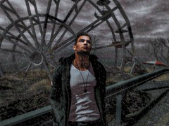 """ I Lost Myself Somewhere in the Darkness "" (maka_kagesl) Tags: secondlife sl game gaming games virtual videogame videogames photography portrait photo picture pic pose posing avatar avi snap snapshot screenshot art artist darkness dark night evening rain snow male ferriswheel"