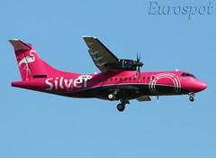 F-WWLK ATR42 Silver (@Eurospot) Tags: toulouse blagnac atr atr42 silver 1411 fwwlk n407sv