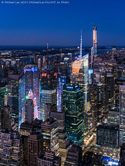 Times Square Twilight (20191116-DSC09560) (Michael.Lee.Pics.NYC) Tags: newyork esb empirestatebuilding aerial night twilight bluehour sunset architecture cityscape skyline skyscraper construction timessquare sony a7rm4 fe24105mmf4g hudsonriver centralpark bryantpark iceskating