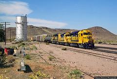 Deep in the Mojave (jamesbelmont) Tags: locomotive railway ralroad train watertower sd40 gp20 gp30 emd cadiz cadizturn transcon mojavedesert california ludlow santaferailway