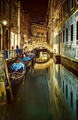 Golden Bridge V2 (Cliff_Baise) Tags: venice italy carnival canal gondola reflection