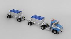 T800 with Belly Dump Trailers (John D O'Shea) Tags: t800 kenworth truck dumper trailer double road train lego moc