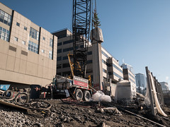 Removing the last piece of the viaduct (WSDOT) Tags: seattle gp construction wsdot alaskan way viaduct replacement demolition 2019 lenora street columns