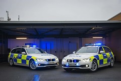 Old & New (S11 AUN) Tags: cleveland police bmw 330d 3series touring anpr traffic car roads policing rpu 999 emergency vehicle nx16dvc nk19eow