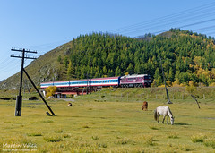 M62UMM-001 UBTZ, Mandal - Shatang (Mongolia) (Martin Válek) Tags: mongolsko mongolei transmongolianrailway ulaanbaatarrailway kharaa rail railway railroad train locomotive zug eisenbahn vlak železnice taigatrommel sergej m62
