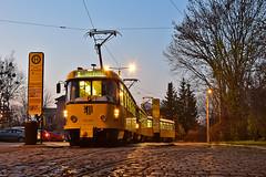Tatra T4D-MT #224_267 DVB Dresden Drezno (3x105Na) Tags: tatra t4dmt dvb dresden drezno deutschland germany niemcy tramwaj tram strassenbahn strasenbahn sachsen saksonia niedersedlitz gleisschleife 224267