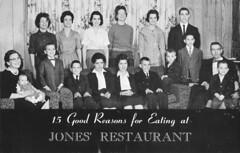 Jones' Kentucky Home Restaurant - Bardstown, Kentucky (The Cardboard America Archives) Tags: family restaurant vintage blackwhite postcard kentucky bardstown capa