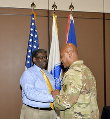 NCOLCoE bids farewell to Holi and Guyette (NCOL CoE Archive Photos) Tags: 2019 ncoleadershipcenterofexcellence usasma nco sergeant sergeantmajor commandsergeantmajor csm sgm army fortbliss texas elpaso seniorenlistedleader ncoa sgt usa