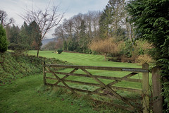 Set For Winter (Deepgreen2009) Tags: grass lawn winter mowing garden home season resting dormant gate