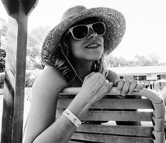 Lisa (Zack Huggins) Tags: dallas texas unitedstatesofamerica olympustoughtg5 vscofilm pack06 dallastx foe fraternalorderofeagles portrait wideangle bokeh dof rnifilms pointandshoot compact digitalcompact advancedcompact waterproofcamera waterproofcompact raw bw mono monochrome hat sunglasses summer summertime pool poolside poolparty birthdayparty birthday chair beachchair lounge