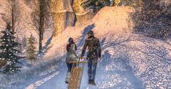 NeverGrowUp (Mikal Angello) Tags: secondlife sl virtual world winter wonderland sled avi avatar
