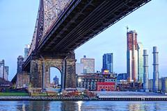 Queensboro Bridge (albyn.davis) Tags: bridge engineering river water buildings architecture nyc newyorkcity queens skyline cityscape usa travel blue colors color