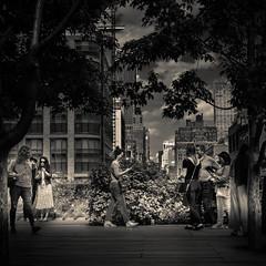 High Line Park (ksvala) Tags: usa nyc newyork city people park highline monochrome bw