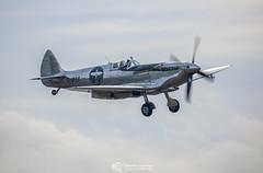 Silver Spitfire - Final Landing (Christian Lawrence Photography) Tags: silver spitfire boultbee world round record breaker aviation longest flight