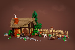 Sofia's Journey – Tane's Farm (roΙΙi) Tags: castle lego moc afol farm tree thatchedroof