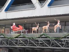 2019 Port Authority Christmas Decor Plastic Santa Claus 1260 (Brechtbug) Tags: port authority christmas decor vintage plastic santa claus with reindeer sleigh 42nd street 8th avenue new york city 12052019 nyc holiday decoration waving 2019