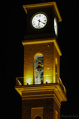 😎 Ho visto la Luce - I saw the Light😊 (Eugenio GV Costa) Tags: approvato notte campanile orologio cecina toscana italia campana luce night bell tower clock tuscany italy light