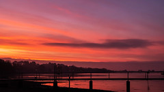 War of the Worlds - Red Martian Solent Dawn Ul-la!! (fstop186) Tags: red martian dawn waroftheworlds sunrise reflection solent goldenhour pink yellow gold landscape seascape panoramic