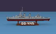 USS Fletcher (DD-445) (ABS Shipyards) Tags: lego fletcher class destroyer dd navy naval ship usn wwii world war 2 micro model ldd render