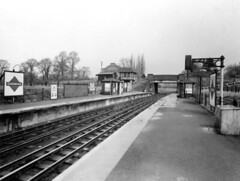 Ickenham Platforms 1934 (Funny Cyclist) Tags: ickenham station tube underground london rail train