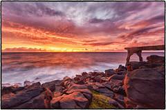 Pineapple Pier, Kealia, Kauai. (peterrath) Tags: sunrise sunset seascape laddnscape water sun sky clouds rocks coastline kauai hawaii kapaa kealia canon eos 5dsr color nature