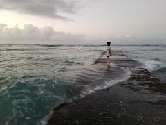 Mahalo (christopher_brown) Tags: meditation ocean waves sunrise waikiki honolulu hawaii water sky clouds