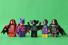 Spider-Bat Bonus (th_squirrel) Tags: lego spiderbat spiderbatvember dc marvel comics amalgam red hood kaine spidergirl batgirl batman spiderman vulture scarecrow minifig minifigure minifigs minifigures