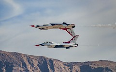 USAF Thunderbirds Performing The Calypso Pass (RS2Photography) Tags: aerial usaf jet f16 air flying nellis af calypso reflection awesome nevada thunderbirds thunderbird show flight canon america usa american flickr sky mountains frenchman las vegas afthunderbirds national clouds new usafthunderbirds frenchmanmountain canon80d smugmug calypsopass nellisafb lasvegas rs2photography rossstone lasvegasairshow acrobatics acrobatic aerialacrobatics girlpower michelle michellecurran mattkimmel squadron usaff16 ross unitedstatesairforce